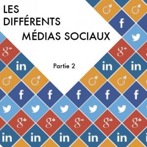 Les différents médias sociaux – Partie 2